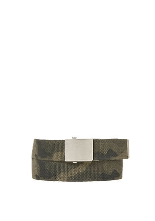 Woven belt with a camouflage pattern from s.Oliver