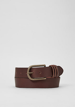 Distinctive buffalo leather belt from s.Oliver