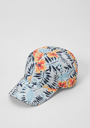 Peaked cap with printed pattern from s.Oliver