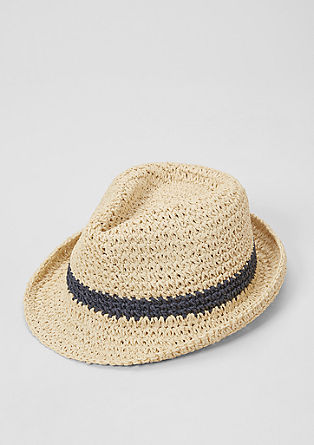 Crochet hat in a trilby style from s.Oliver