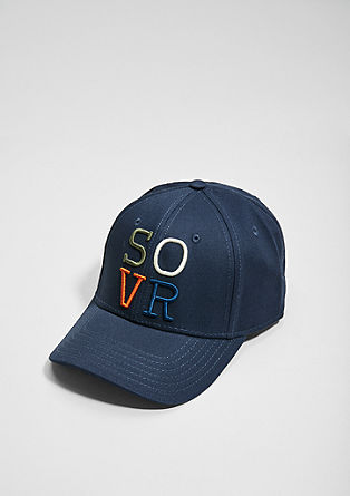 Baseballcap mit Label-Stitching