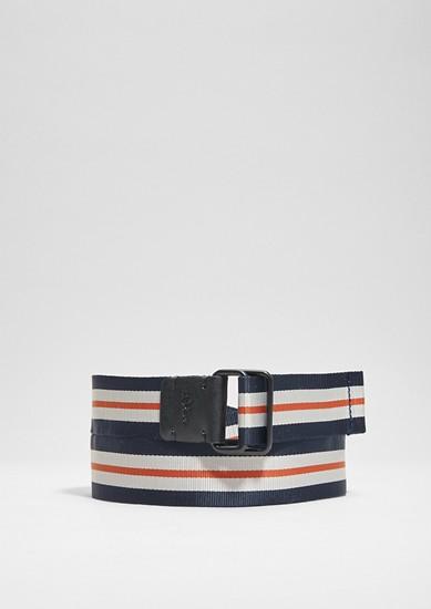 Striped textile belt from s.Oliver