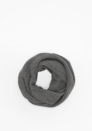 Lightweight snood made of a textured knit from s.Oliver