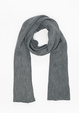 Long textured knit scarf from s.Oliver