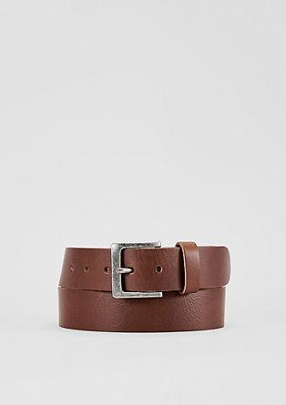 Ledergürtel mit Vintage-Schließe