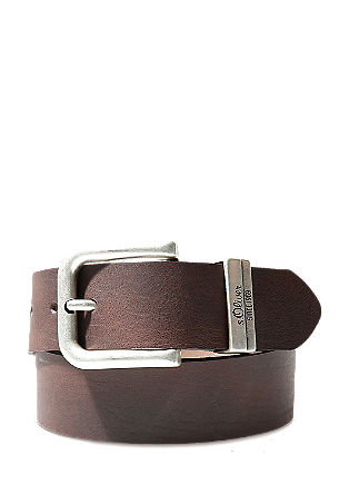 Wide leather belt from s.Oliver