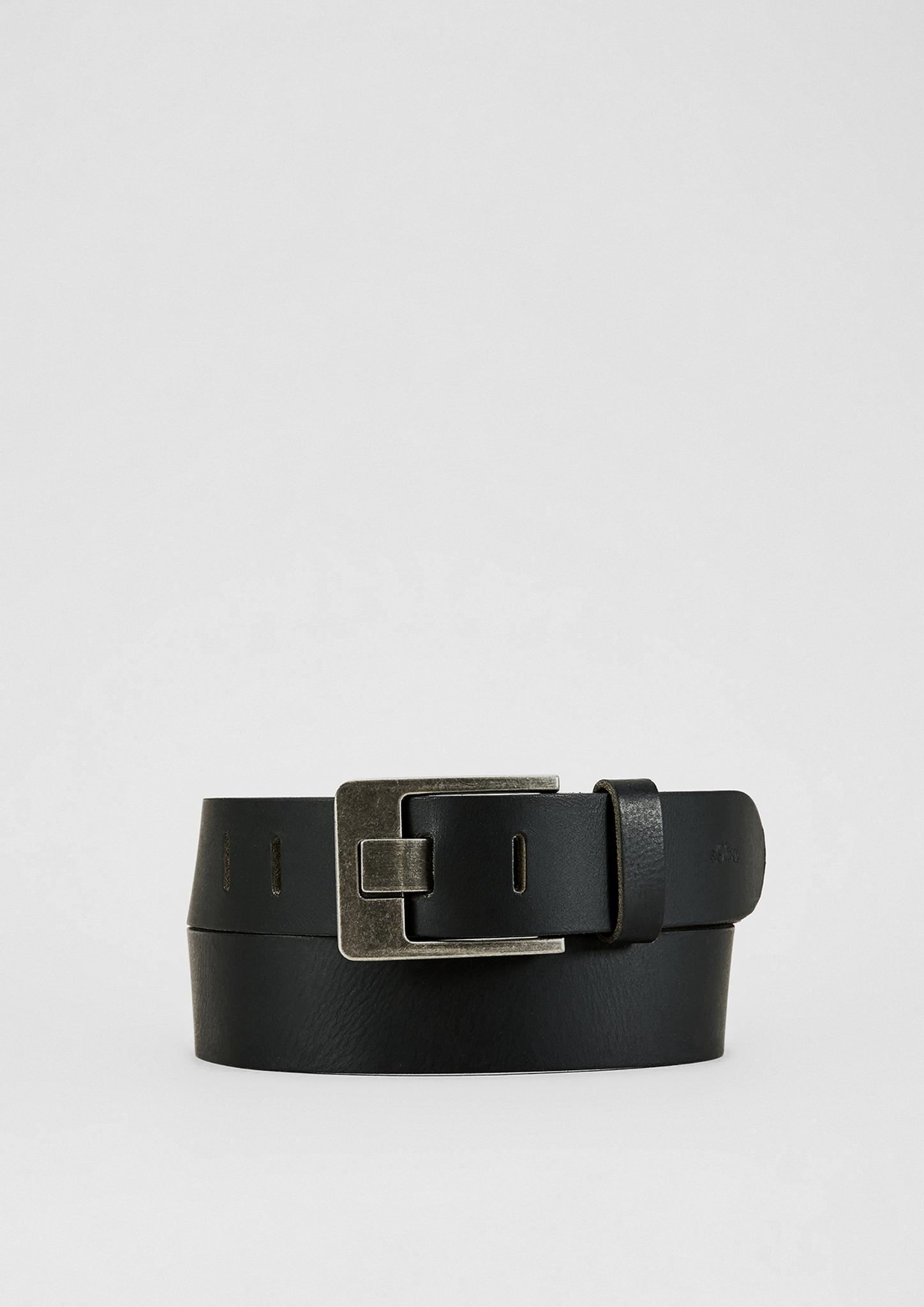 Ledergürtel | Accessoires | Grau/schwarz | 100% leder | s.Oliver