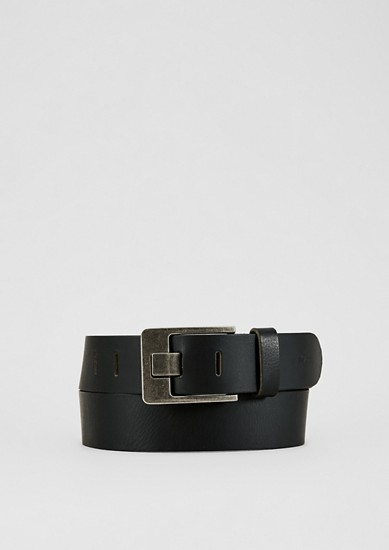 Leather belt with vintage effects from s.Oliver