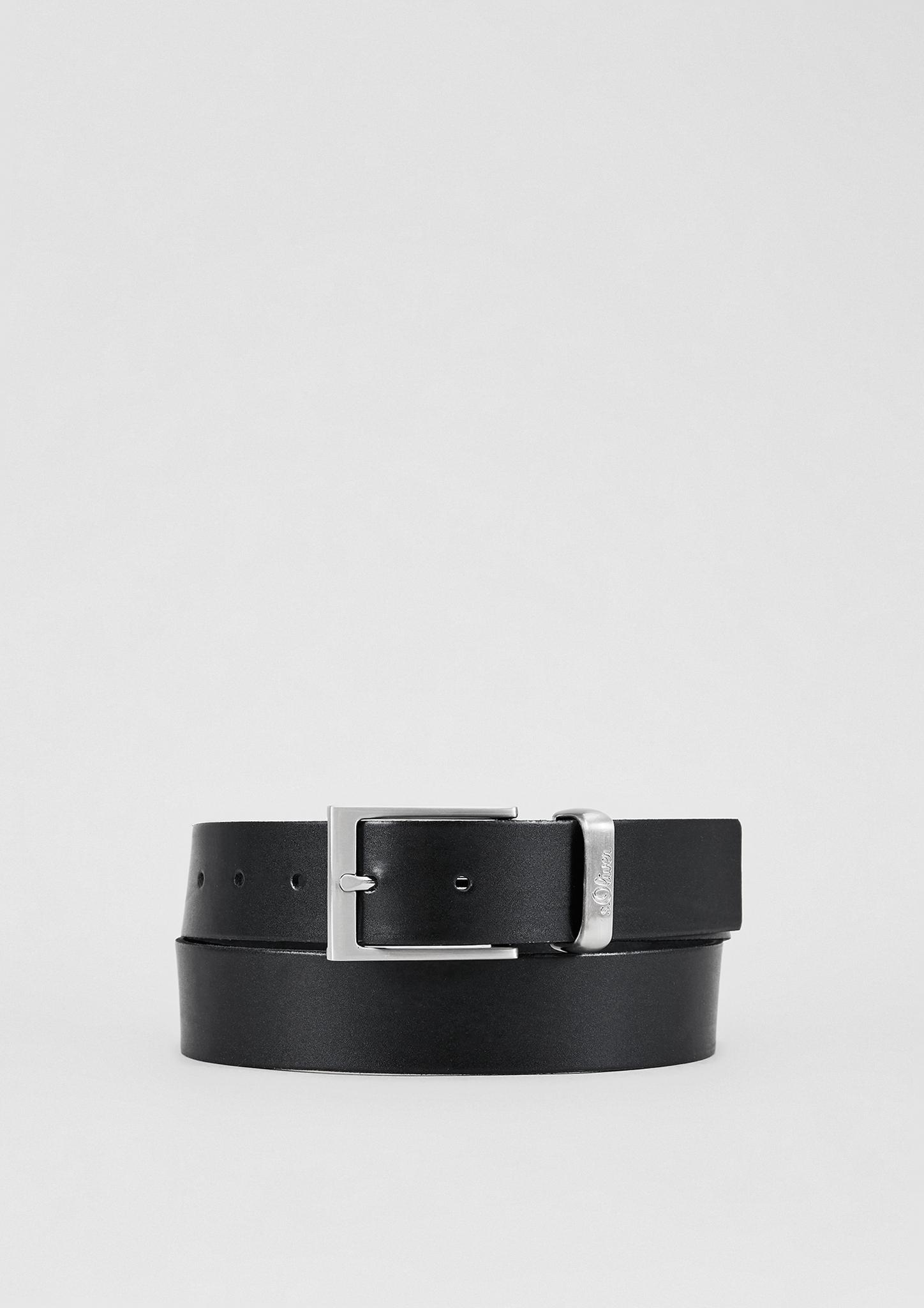 Ledergürtel | Accessoires | Grau/schwarz | 85% leder -  15% polyurethan | s.Oliver