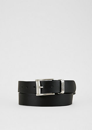 Leather belt with a matte finish from s.Oliver