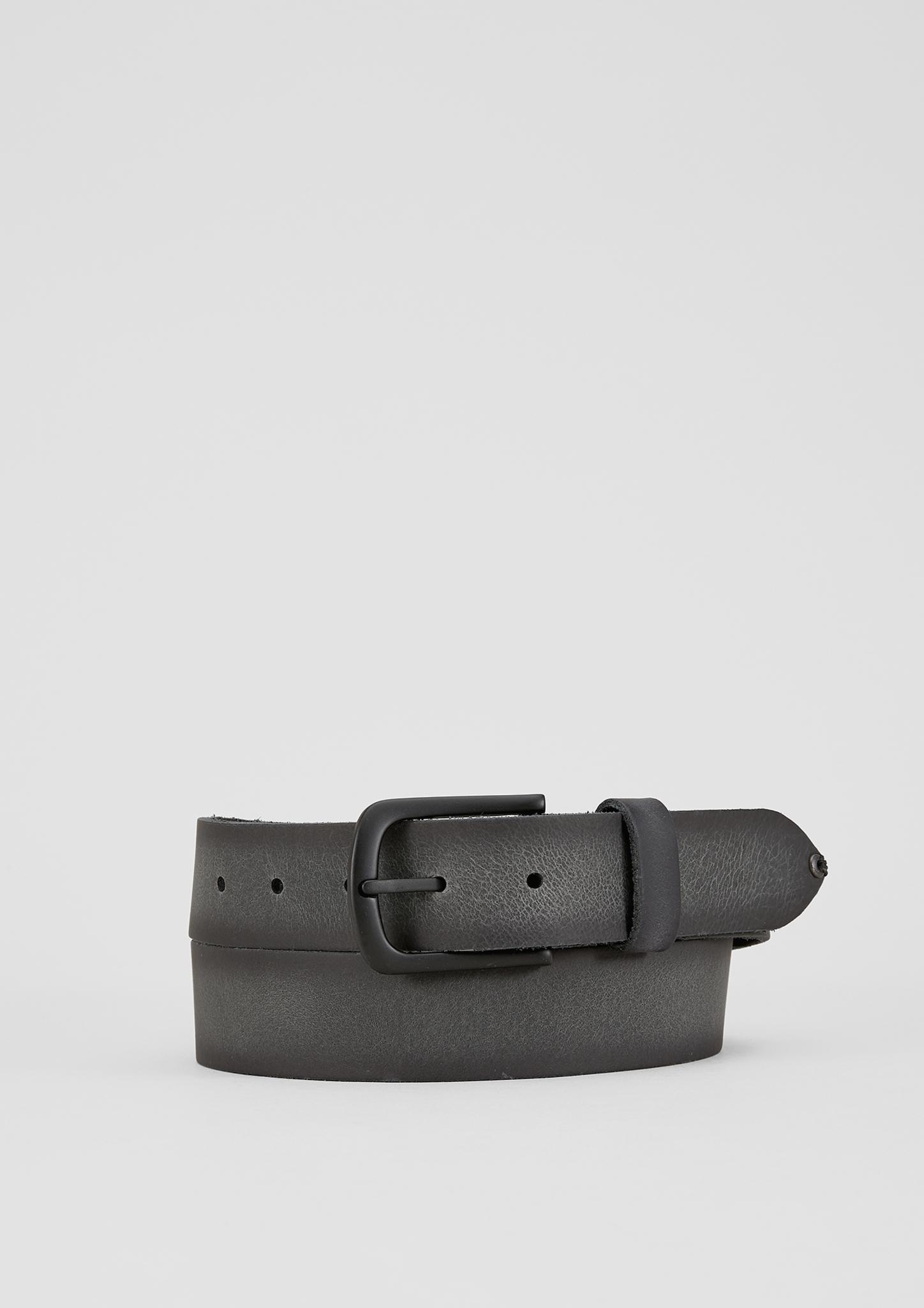 Vintage-Ledergürtel | Accessoires > Gürtel > Sonstige Gürtel | Grau | 100% leder | s.Oliver