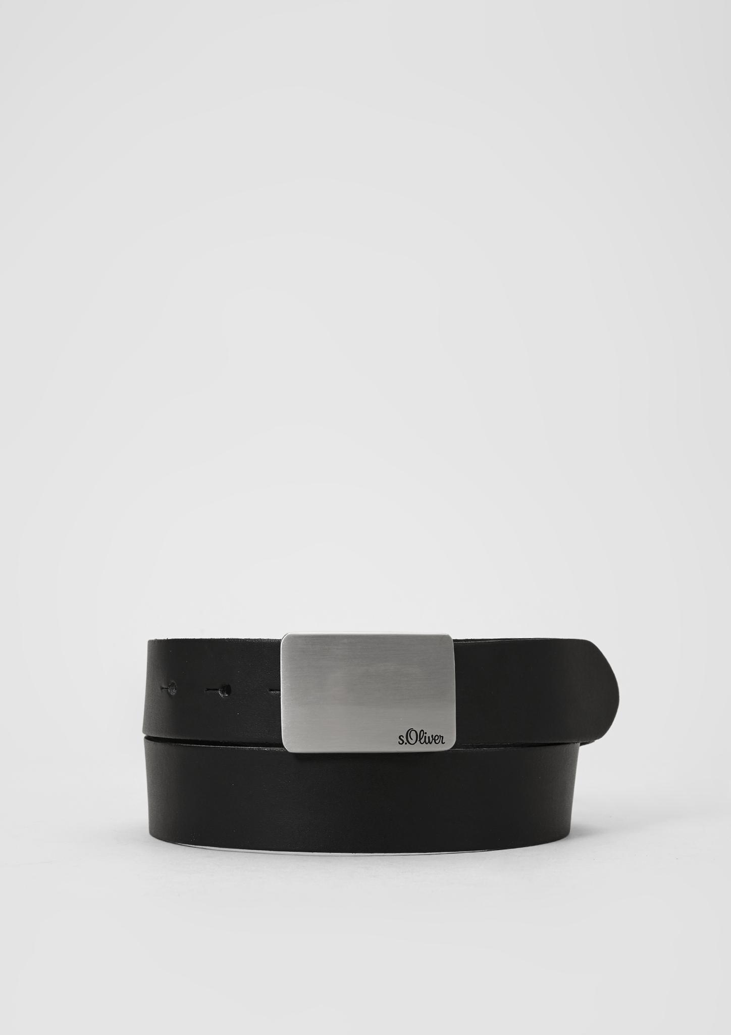 Ledergürtel | Accessoires > Gürtel > Ledergürtel | Schwarz | 100% leder | s.Oliver