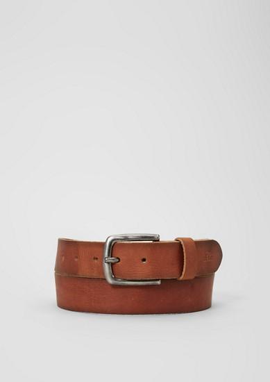 Ledergürtel mit Vintage-Finish