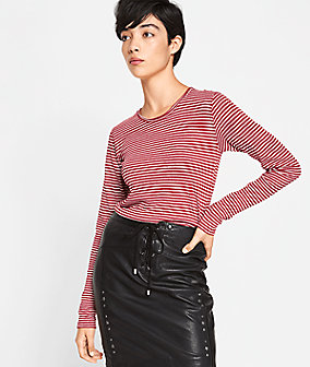 Long sleeve top with stripes from liebeskind