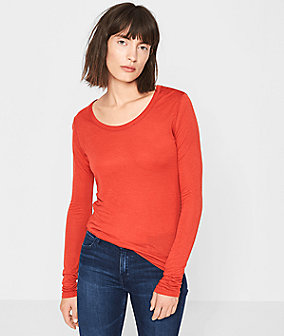 Long sleeve top with cashmere from liebeskind
