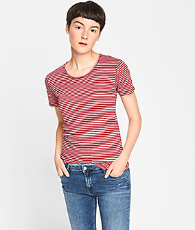 Striped T-shirt with a round neckline from liebeskind