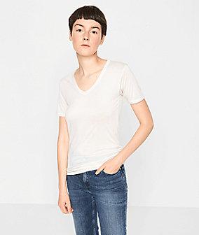 T-Shirt mit Kaschmir