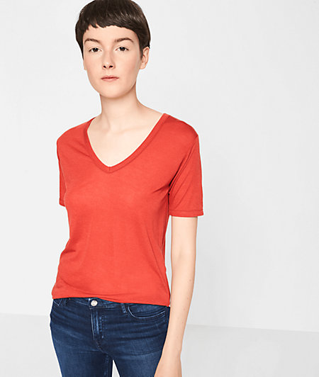 T-shirt with a cashmere from liebeskind