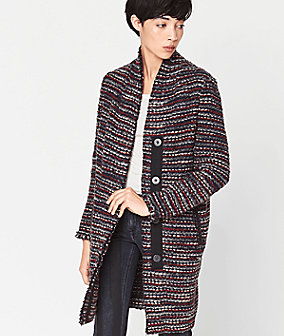 Coat with stripes from liebeskind