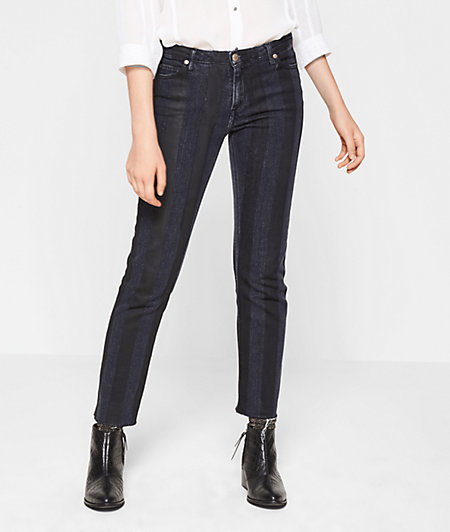 Jeans im Blockstreifen-Look
