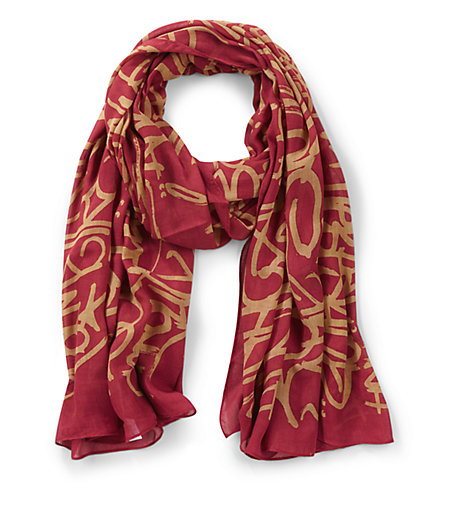 Scarf with a graffiti print from liebeskind