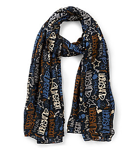 Printed scarf with an all-over pattern from liebeskind