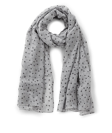 Woven scarf with an all-over pattern from liebeskind