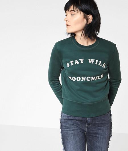 Sweatshirt mit Frontdruck
