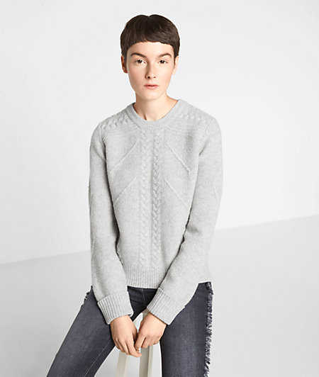 Wool jumper with a cable pattern from liebeskind