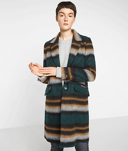 Coat with a striped pattern from liebeskind