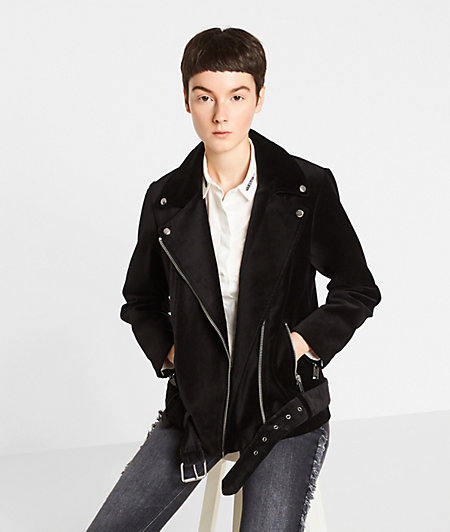 Velour biker jacket from liebeskind