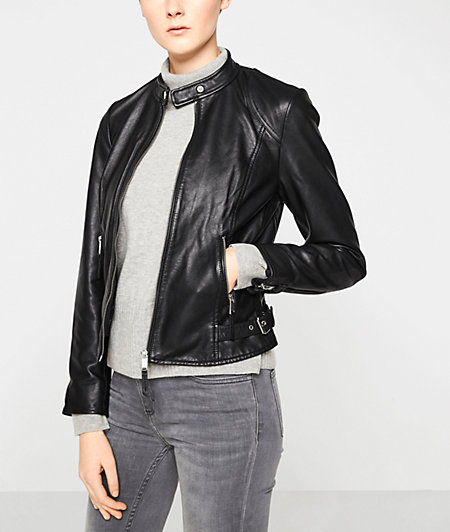 Lamb leather jacket from liebeskind