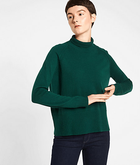 Wool jumper with a roll neck from liebeskind