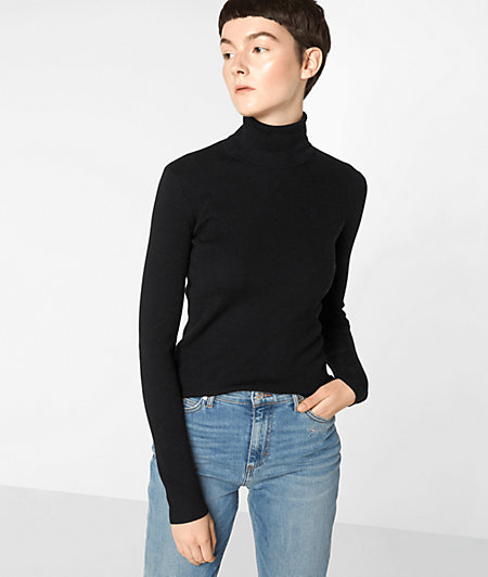 Wool top with a polo neck from liebeskind
