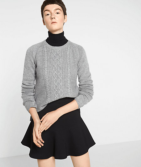 Wool jumper with glitter yarn from liebeskind