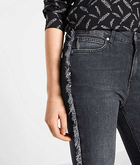 Jeans with fringing from liebeskind