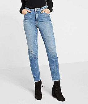 Mom Jeans mit Stitching