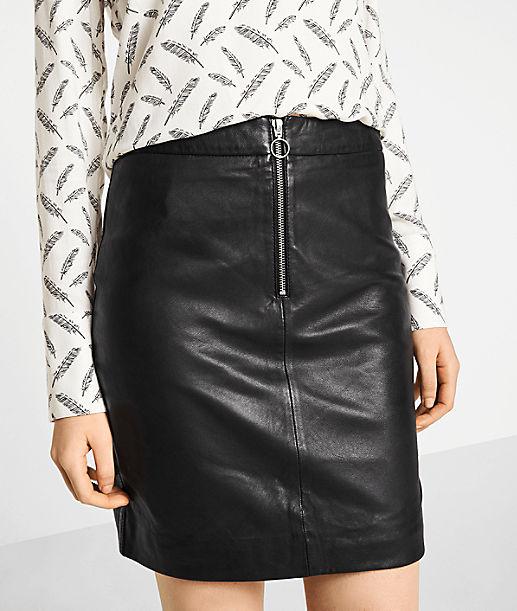 Lederrock mit Zipper
