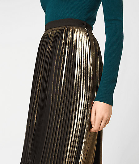 Pleated skirt with a metallic effect from liebeskind