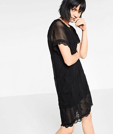 Sheer short sleeve dress from liebeskind