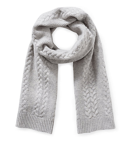 Wool scarf with a cable pattern from liebeskind