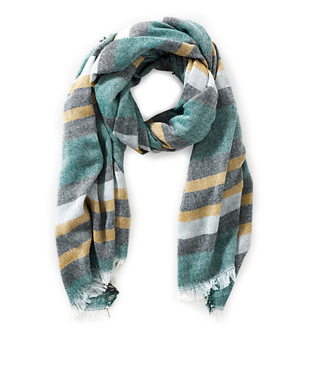 Woven scarf with a striped pattern from liebeskind
