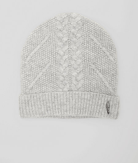 Wool hat with a cable pattern from liebeskind