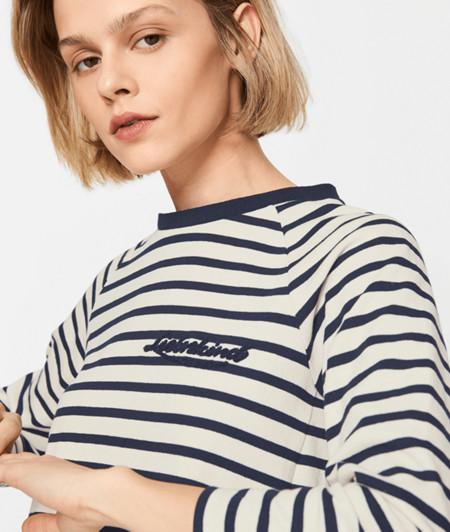Stricksweater mit Streifen