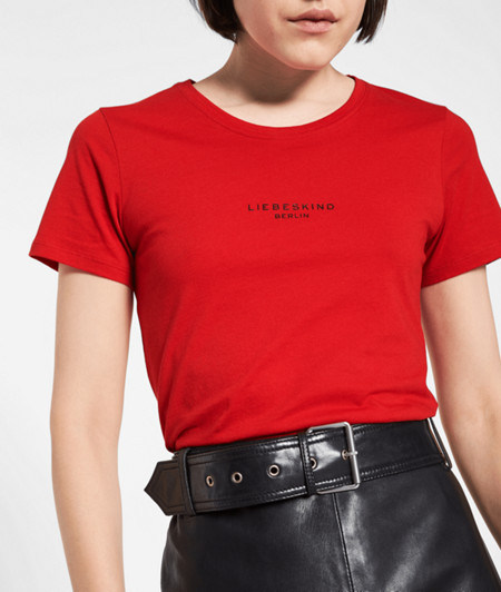 T-shirt with a 3D logo print from liebeskind