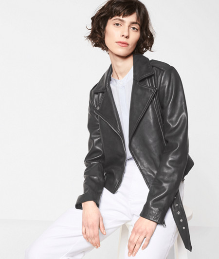 Hand-painted biker jacket from liebeskind