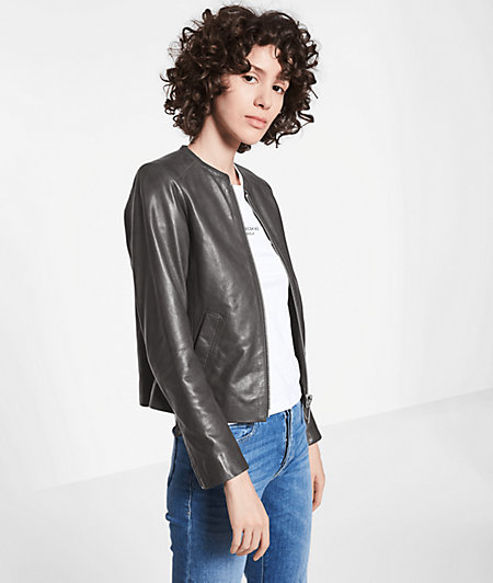 Short lambskin leather jacket from liebeskind