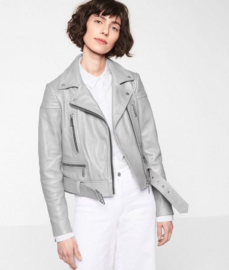 Biker jacket with a metallic effect from liebeskind