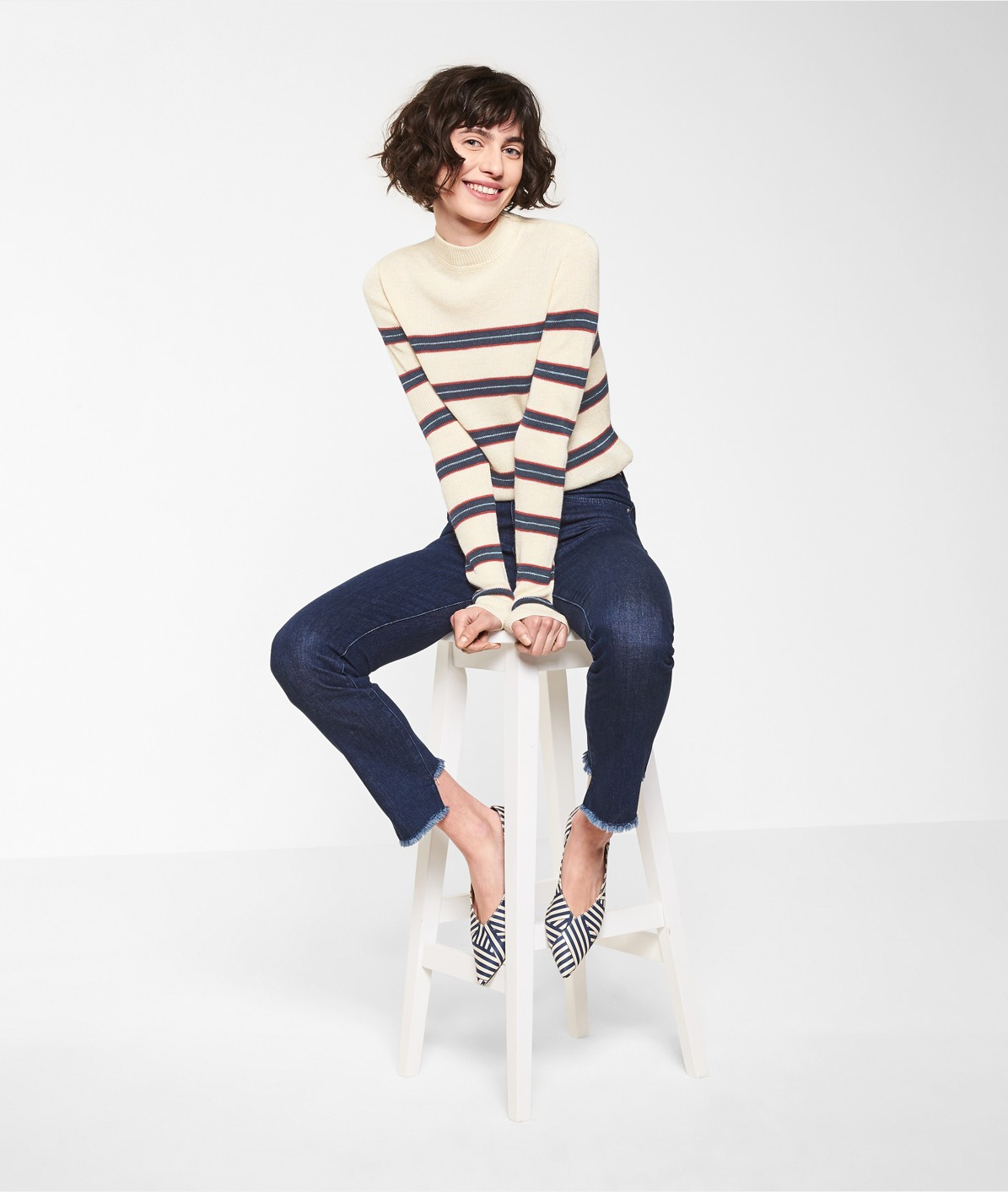 Knit jumper in a striped design from liebeskind