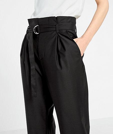 Paperbag-Hose aus leichter Baumwolle